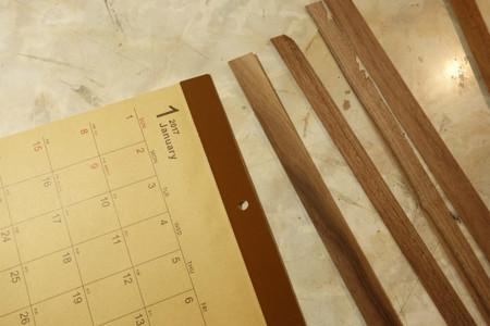 100均カレンダー+無垢の木ワークショップ